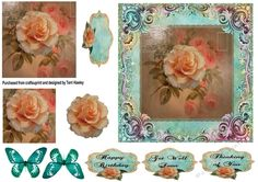 - Thinking of you with roses, pyramid card is so easy to make, and looks beautiful when made up. It has 4 labels, Thin. Your Cards, Thinking Of You, Decoupage, Birthday Cards, Card Making, Greeting Cards, Roses, Make It Yourself, 3d