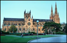 St. Mary's cathedral - Sydney. Love seeing this church through the park on early drives to the city :)