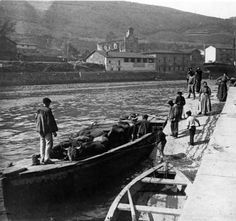 gabarra Bilbao, Old Pictures, Zara, Boat, River, People, Parking Lot, Train, Cities