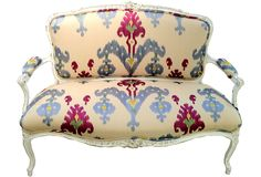 Antique French Settee - One Kings Lane - Vintage & Market Finds - Furniture