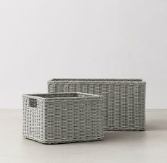 """Rutherford Storage Basket Small Basket: Small Basket: 10¼""""W x 12""""D x 8""""H  $29 Large Basket: 11""""W x 20""""D x 10""""H $49"""