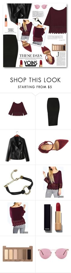 """These Days"" by tasnime-ben ❤ liked on Polyvore featuring Joe's Jeans, Chanel, Urban Decay, Oliver Peoples, NYX, yoins and yoinscollection"