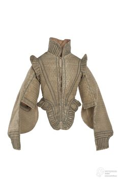 Elizabethan Doublet, From Les Arts Décoratifs via Europeana Fashion. I don't trust it until I see it on the museum page, and other examples, but will leave it for now. Mode Renaissance, Renaissance Clothing, Renaissance Fashion, 16th Century Fashion, 17th Century Clothing, Elizabethan Fashion, Tudor Fashion, Steampunk Fashion, Gothic Fashion