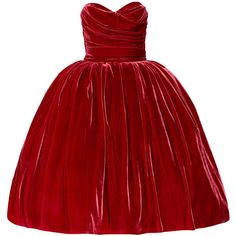Dolce & Gabbana Strapless velvet dress (€2.025) ❤ liked on Polyvore featuring dresses, gowns, vestidos, red, crimson, red strapless dress, red velvet evening dress, fitted dresses, red ball gown and red dress