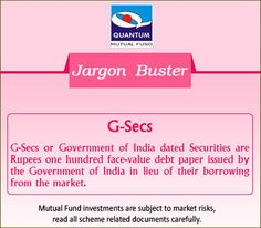 Demystify the term #GSec in the financial context? #JargonBuster