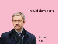 Sherlock Valentine Ahahaha I WISH SOMEONE WOULD SEND ME THIS!