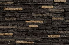 "Faux Stone Siding - Stacked Stone - Bedford Coal / Panel 46 1/2""x13 1/4""x1"""