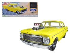1965 Ford XP Falcon Yellow 50th Anniversary Limited Edition with Engine Blower 1/18 Diecast Model Car by Greenlight - Brand new 1:18 scale diecast car model of 1965 Ford XP Falcon Yellow 50th Anniversary Limited Edition with Engine Blower die cast car model by Greenlight. Brand new box. Rubber tires. Made of diecast metal. Does not have any openings. This car doesnt have any openings. Detailed interior, exterior, engine compartment. Dimensions approximately L-10.5, W-4.5, H-3.5…