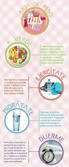 Siempre estamos buscando la manera de #BajarDePeso, por eso te damos 8 excelentes #TipsParaAdelgazar.  #Salud #Fitness #PerderPeso #VidaSaludable #Lunes