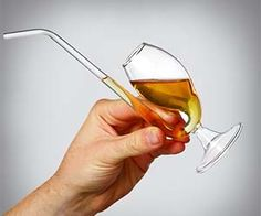 Sip on your scissor fine brandy with this clever brandy drinking pipe. Featuring a unique design that enhances the flavor of your liquor along with a built in straw, the brandy pipe is the classiest way for a fine gentleman to get his drink on.