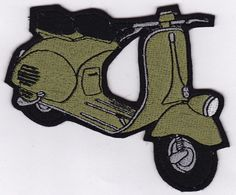 Hey, I found this really awesome Etsy listing at https://www.etsy.com/listing/90968929/green-vintage-vespa-embroidery-applique
