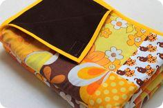 Beautiful patchwork with elephant fabric fra BLAFRE. More photos: http://laralil.blogspot.no/2012/06/tvillinge-patchworktpper.html