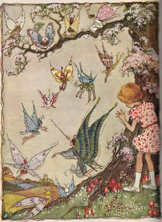 ≍ Nature's Fairy Nymphs ≍ magical elves, sprites, pixies and winged woodland faeries - unknown artist