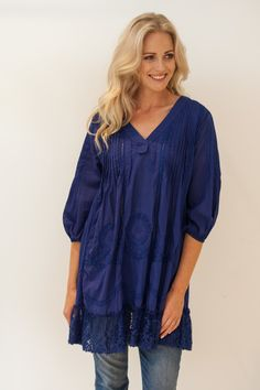 Boo Radley Cotton Lace Tunic - Womens Tunics - Birdsnest Fashion Clothing