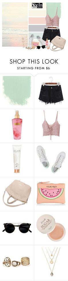 """""""tenderness"""" by nicolepuppy ❤ liked on Polyvore featuring Victoria's Secret, Jens Pirate Booty, adidas, New Look, Fresh, Forever 21 and shein"""