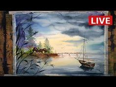 수채화 따라해보기 #1 watercolor painting, how to watercolor,water technique - YouTube