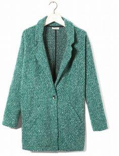 Chaqueta en lana de Pull and Bear.