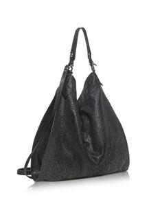 Francesco Biasia Madeleine Black Leather Tote