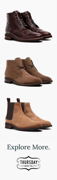 For wherever the day takes you. 8+ men's styles in 10+ colors. Starting at just $149 with free shipping for all boots.