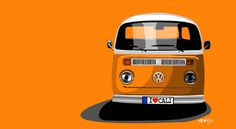 Orange you glad I didn't say banana! V-DUB Bus Illustration by 17 year old - Mason Watson. Appealing in every way.