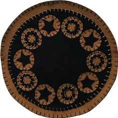 Black Star Candle Mat Country Rustic Primitive $16.99