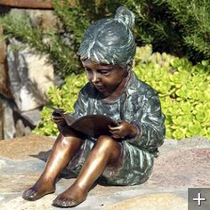 Storybook Girl Bronze Sculpture from Frontgate