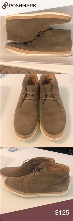 Spotted while shopping on Poshmark: Tod's Polacco Gomma Raffia Mens Suede Desert Boots! Best Mens Fashion, Desert Boots, Embossed Logo, Timeless Fashion, Moccasins, Lace Up, Man Shop, Heels, Leather