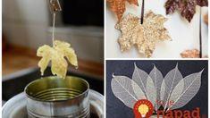 Čarovanie s listami: Stačí ich namočiť so sódy a nechať uschnúť – neuveríte, aké úžasné veci z toho vzniknú! Ikebana, Soft Drink, Creativity, Mop Sauce, Stuff Stuff, Floral Arrangement
