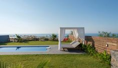 Vacation stylish villa Almare in front of the sea with pool and garden. A great house to stay in Crete, for up to 9 people, with easy access to bars, restaurants and shops in the area. Crete, Villas, Vacation, Garden, House, Wedding, Valentines Day Weddings, Vacations, Garten