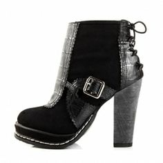 Black 2 Toned Trendy Ankle Boot $59.99