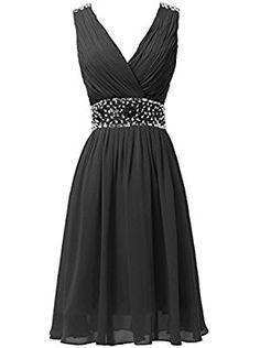 Dresstells® Women's V Neck Open Back Prom Dress With Beading Prom Dress Homecoming Dress