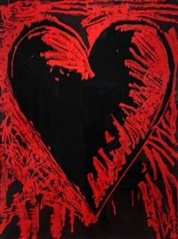 Available for sale from Galerie de Bellefeuille, Jim Dine, The Black and Red Heart Gravure avec peinture à la main / Woodcut, etching with hand dra… Neo Dada, Jim Dine, Heart Artwork, Heart Painting, American Artists, Paintings For Sale, Online Art, Art Lessons, Art Photography
