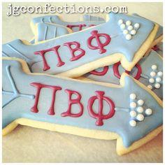 Pi Beta Phi arrow cookies #piphi #pibetaphi