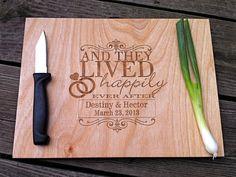 Personalized Wood Block Cutting Board  by CreativeButterflyXOX, $29.95