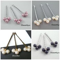Pearl bobby pins, Hair pins, Bridal hair piece, Flower girl, Bridesmaid gift, Wedding hair accessories, hand wired pins, Pearl hair clips #weddingpartygifts