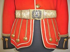 Royal Scots Fusiliers Officer's Doublet Tunic Belt Post 1881 Pattern