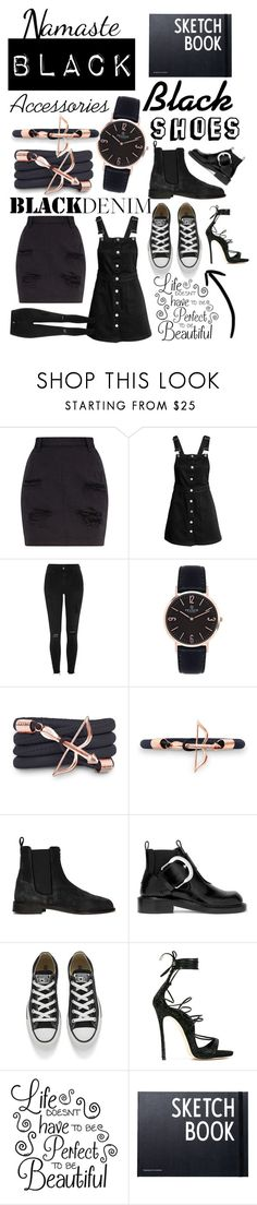 """Win $50 from Frank Florenzi"" by eliza-winstanley ❤ liked on Polyvore featuring River Island, Monza, Novara, Maison Margiela, Converse, Dsquared2, Design Letters, black, expressyourself and frankflorenzi"