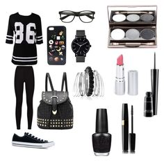 """kinda grunge"" by abnormallyamazing ❤ liked on Polyvore featuring Converse, The Horse, Avenue, MAC Cosmetics, HoneyBee Gardens and OPI"