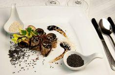 Roladki z grillowanego bakłażana - kuchnia Manor House