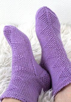 Ravelry: Diamonds in a row pattern by Niina Laitinen free pattern Knitting Patterns Free, Free Knitting, Free Pattern, Crochet Patterns, Boot Cuffs, Boot Socks, Little Cotton Rabbits, Crazy Socks, Knitting Videos