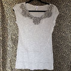 3 tops for bundle 3 tops bundle (1) gray size small  (2) the white shirt size L, (3) the White/ black size small, all the tops are in good condition Studio Y Tops