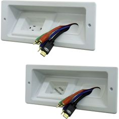 (in wall cable management for flat screen tvs) maybe something like this will help you guys put your tv over the fireplace eventually and still hide all the wires behind the drywall