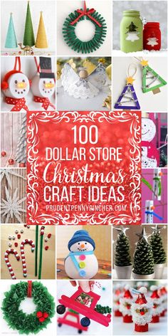 100 Dollar Store Christmas Crafts Get crafty for less with these dollar store Christmas Crafts. From DIY ornaments to mason jar crafts, there are plenty of craft ideas for kids and Dollar Store Christmas Crafts Cheap Christmas Crafts, Christmas Crafts For Adults, Kids Christmas Ornaments, Dollar Store Christmas, Christmas Mason Jars, Diy Christmas Gifts, Holiday Crafts, Diy Ornaments, Christmas Decorations