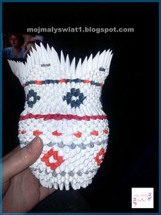 origami modułowe wazonik zrób to sam DIY origami 3D