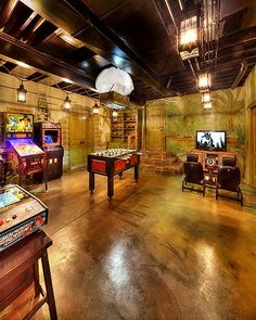 20 Epic Rec Room Ideas Decoration For Your Family Entertainment. See more ideas about Game room basement, Game room and Finished basement bars, family room, rec room family, rec room kids. Teen Basement, Game Room Basement, Man Cave Basement, Basement Ideas, Basement Bathroom, Garage Ideas, Basement Band, Basement Kitchen, Basement Designs
