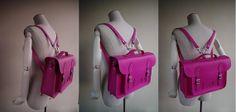 Hand Stitched Vintage Cambrige Messenger / Backpack / Briefcase in Pink on Etsy, 2408,91Kč