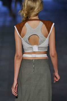 Sports Luxe ☆ alexander wang 2010, it was such an athletic inspired collection but with luxurious fabrics