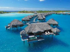 Four Seasons Hotel, Bora Bora, French Polynesia. Always been #1 for me, someday.