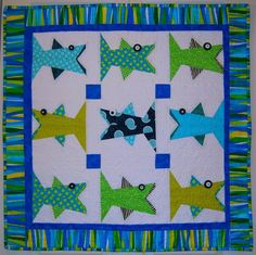 One Fish Paper Pieced Quilt/ Wall Art | Craftsy