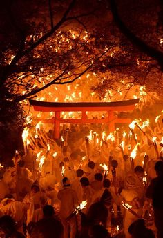 Otou-matsuri (fire-festival) at Kamikura shrine, Shingu, Wakayama Matsuri Festival, Fire Festival, Japanese Festival, Japan Landscape, Wakayama, Japanese Aesthetic, Visit Japan, Japanese Architecture, Japanese Beauty